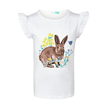 Buy John Lewis Girls' Bunny Graphic T-Shirt, White Online at johnlewis.com