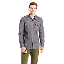 Buy Levi's Barstow Western Shirt, Grey Online at johnlewis.com