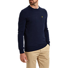 Buy Lyle & Scott Pocket Detail Crew Neck Jumper, Navy Online at johnlewis.com