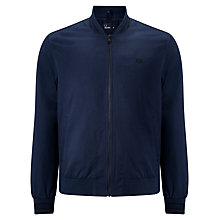 Buy Fred Perry Tramline Tipped Bomber Jacket, Dark Navy Online at johnlewis.com