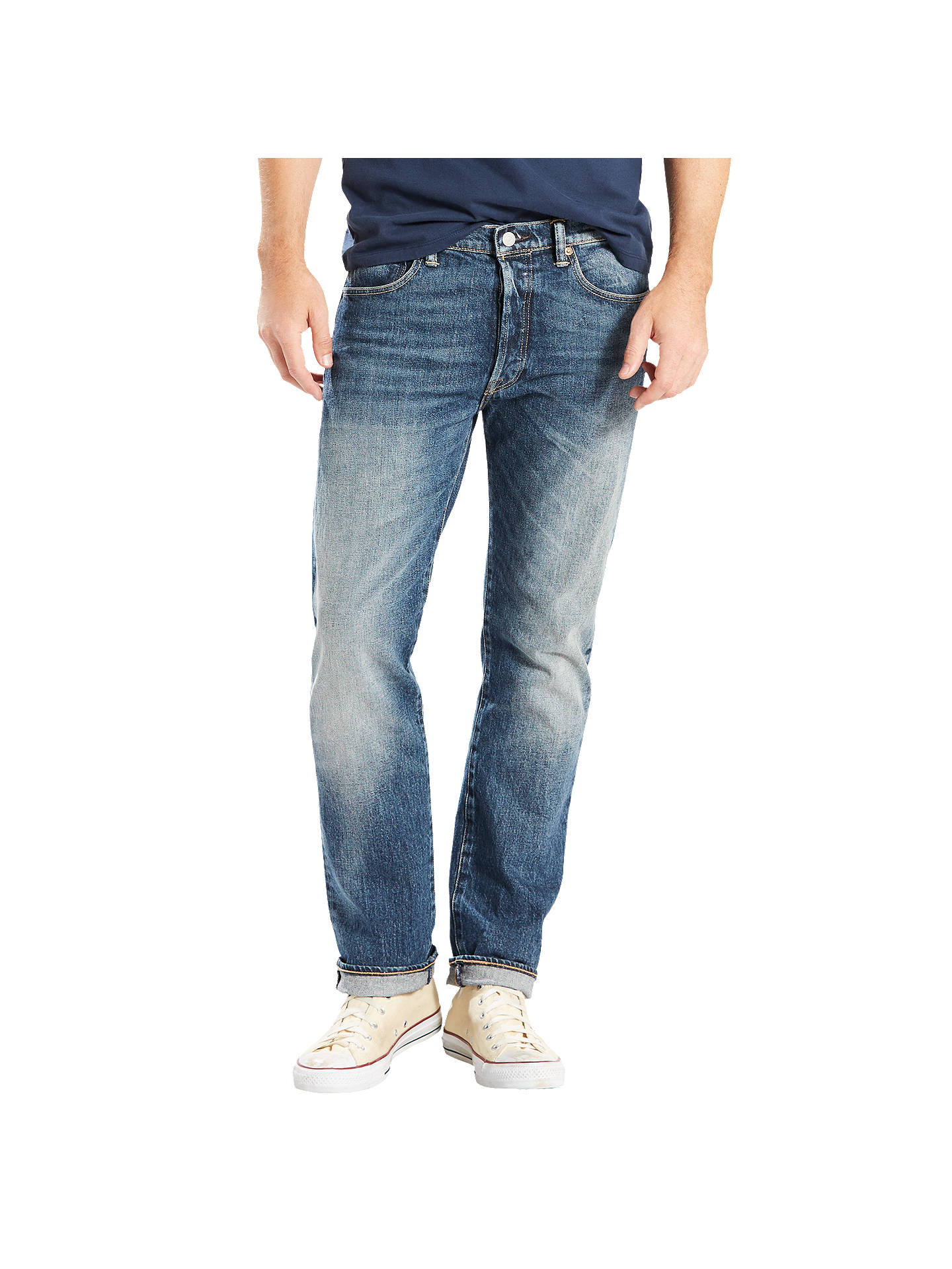competitive price fb52e 58c3d Buy Levi s 501 Original Straight Stretch Jeans, Fret, 30S Online at  johnlewis. ...