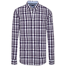 Buy Tommy Hilfiger Audley Check Slim Fit Shirt, Indigo/Thyme Online at johnlewis.com
