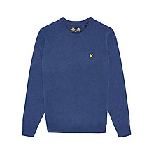 Buy Lyle & Scott Lambswool Crew Neck Jumper, Navy Online at johnlewis.com