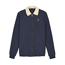 Buy Lyle & Scott Shearling-Lined Bomber Jacket, Navy Online at johnlewis.com