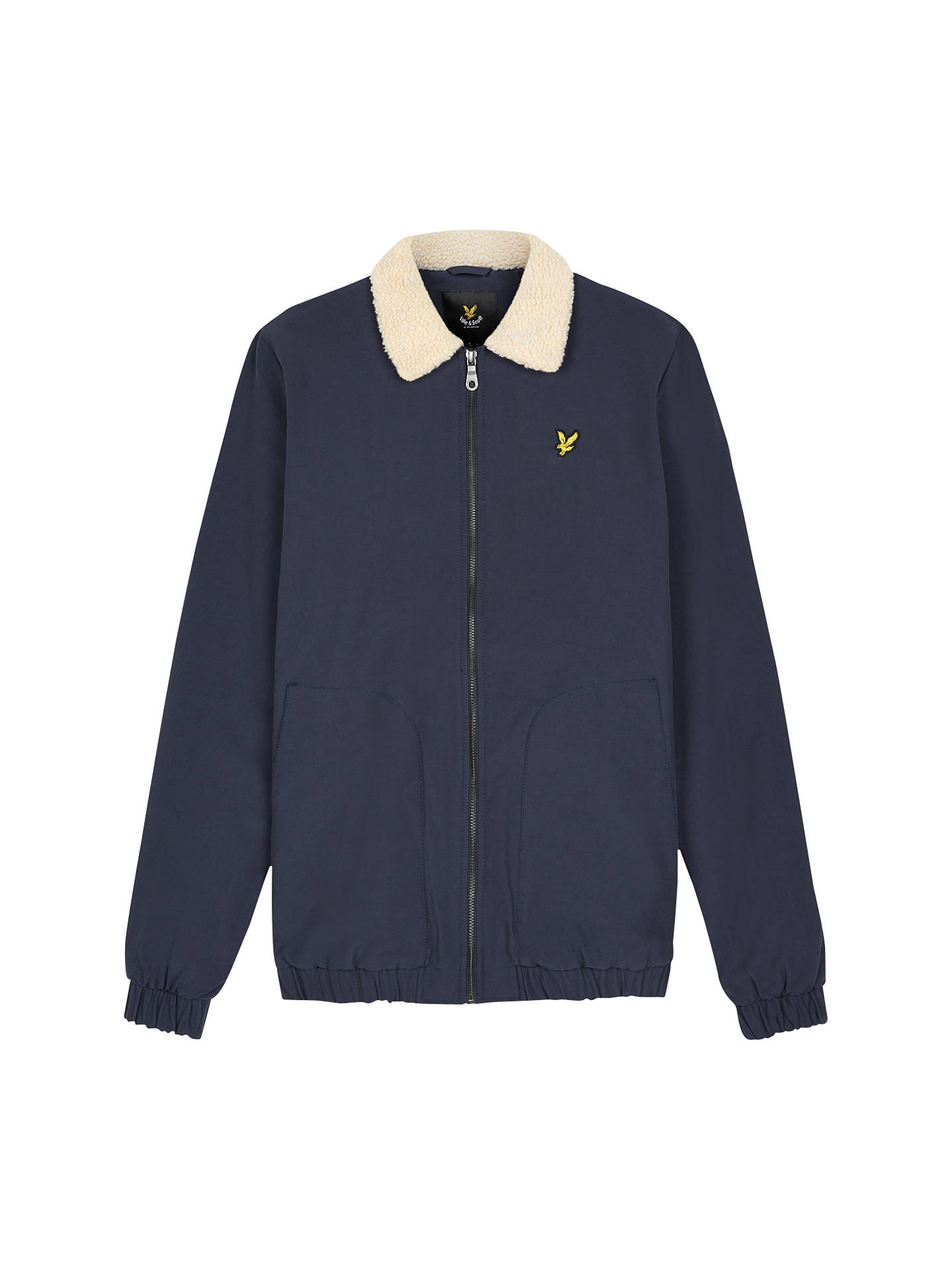30c09ececf5 Buy Lyle   Scott Shearling-Lined Bomber Jacket