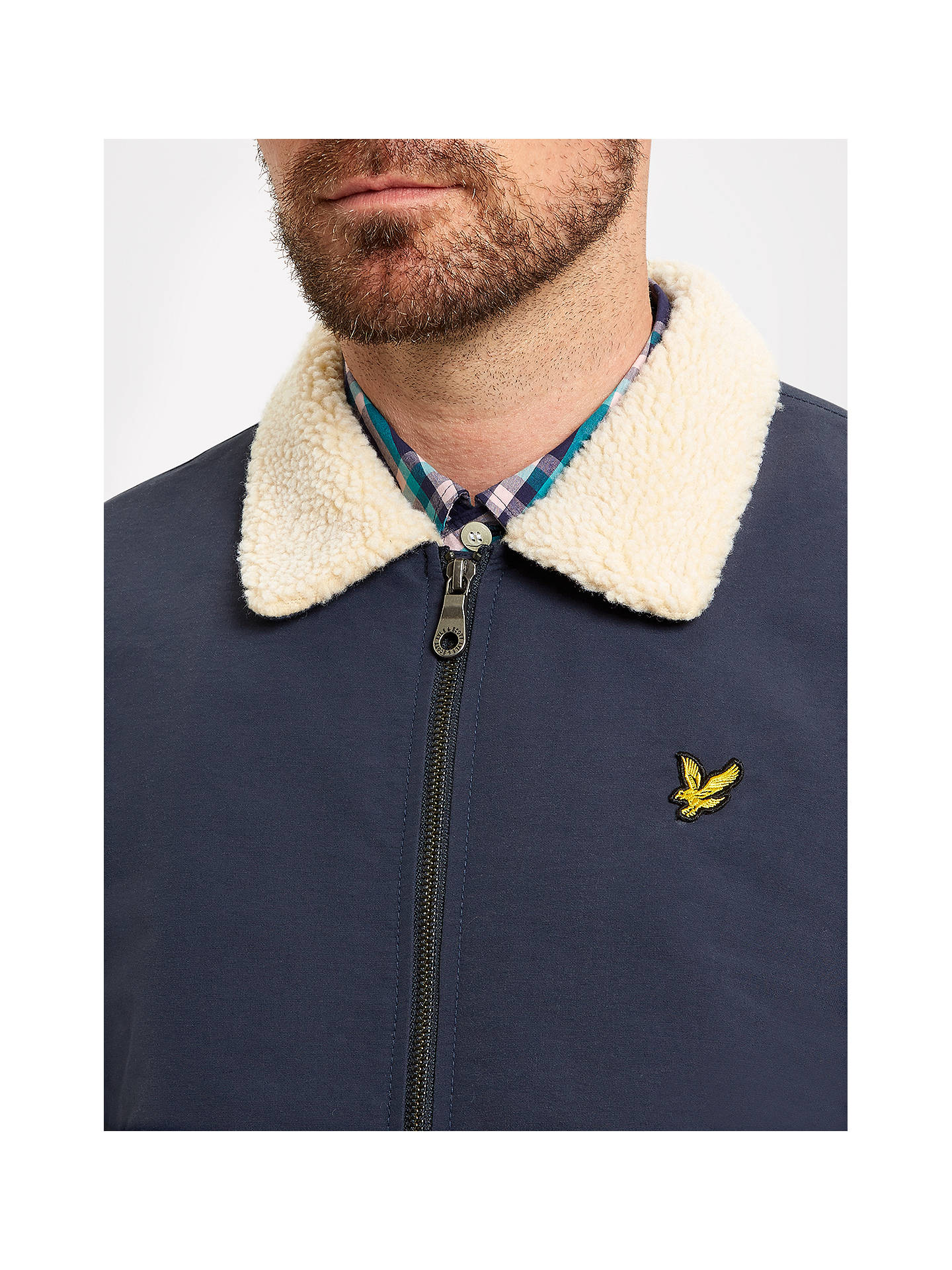 dc8409e921f ... Buy Lyle   Scott Shearling-Lined Bomber Jacket