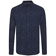 Buy Tommy Hilfiger Indigo Block Paisley Shirt, Indigo Online at johnlewis.com