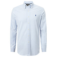 Buy Polo Golf by Ralph Lauren Stripe Performance Shirt, Regent Blue Online at johnlewis.com