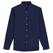 Buy Lyle & Scott Poplin Slim Fit Shirt, Navy Online at johnlewis.com