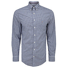 Buy Gant Gingham Check Cotton Long Sleeve Shirt, Persian Blue Online at johnlewis.com