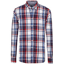 Buy Tommy Hilfiger Hays Poplin Check Slim Fit Shirt, Blackberry Cordial/White Online at johnlewis.com