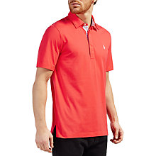 Buy Polo Golf by Ralph Lauren Vintage Lisle Pima Cotton Polo Shirt, Coral Glow Online at johnlewis.com