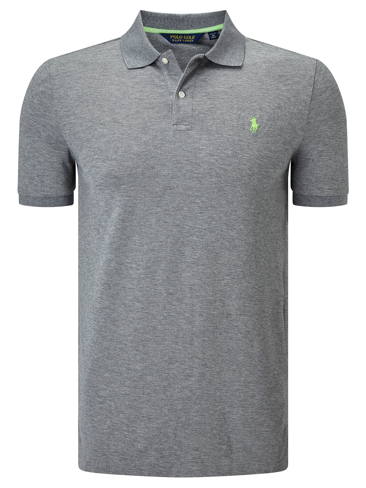 9aca4e98d Buy Polo Golf by Ralph Lauren Short Sleeve Pro-Fit Polo Shirt, Classic Grey  ...