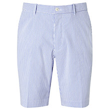 Buy Polo Golf by Ralph Lauren Links Stripe Seersucker Shorts, Diplomat Blue Online at johnlewis.com