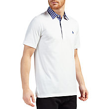 Buy Polo Golf by Ralph Lauren Vintage Lisle Pima Cotton Polo Shirt, White Online at johnlewis.com