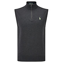 Buy Polo Golf by Ralph Lauren Sleeveless Zip Neck Vest, French Navy Online at johnlewis.com