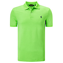 Buy Polo Golf by Ralph Lauren Short Sleeve Polo Shirt, Blaze Ultra Lime Online at johnlewis.com