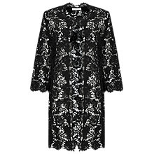 Buy Jacques Vert Lace Shacket, Black Online at johnlewis.com