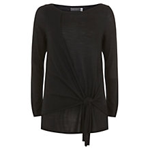 Buy Mint Velvet Knot Detail Slouchy Knit, Black Online at johnlewis.com