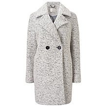 Buy Jacques Vert Oversized Textured Double Breasted Coat, Mid Grey Online at johnlewis.com