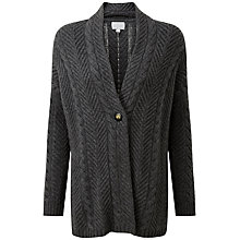 Buy Pure Collection Zara Luxury Cashmere Cardigan, Soft Charcoal Online at johnlewis.com