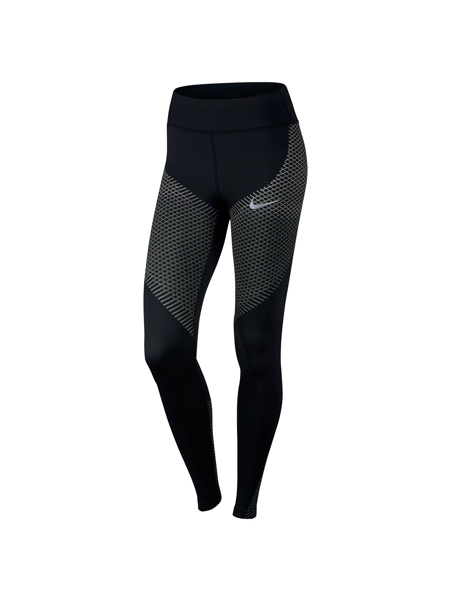 134c107180b935 Buy Nike Zonal Strength Print Running Tights, Black/Tumbled Grey, XS Online  at ...