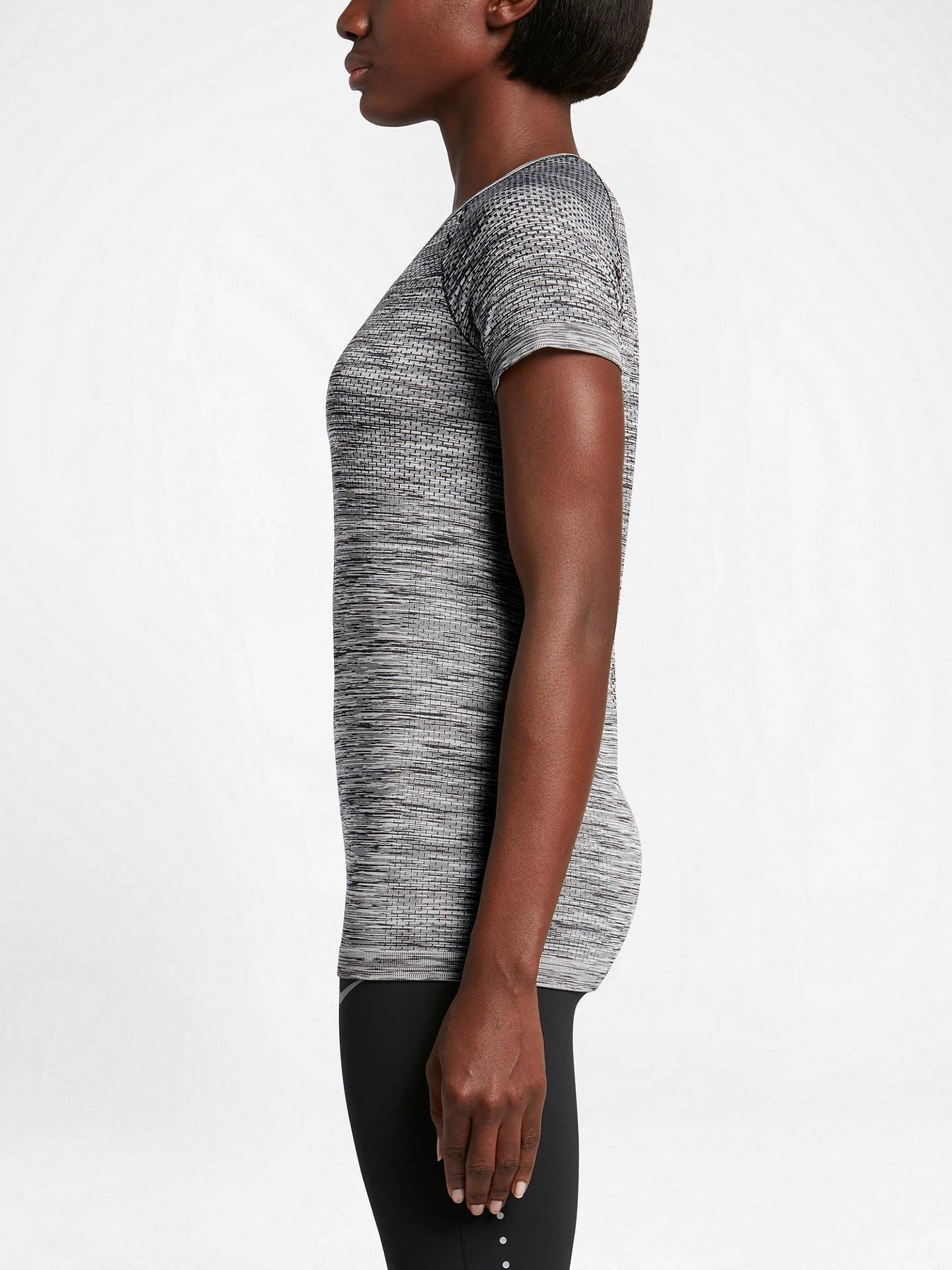 420ea201 Nike Dri-FIT Knit Short Sleeve Running Top at John Lewis & Partners