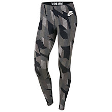 Buy Nike Sportswear Skyscraper Leggings, Black/White Online at johnlewis.com