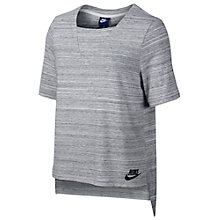 Buy Nike Sportswear Advance 15 T-Shirt, White/Black Online at johnlewis.com