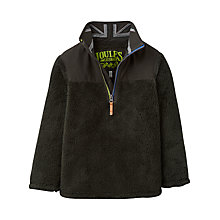 Buy Little Joule Boys' Woozle Half Zip Fleece Top, Coal Online at johnlewis.com