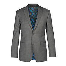 Buy Ted Baker Slashj Sharkskin Wool Tailored Fit Suit Jacket, Grey Online at johnlewis.com