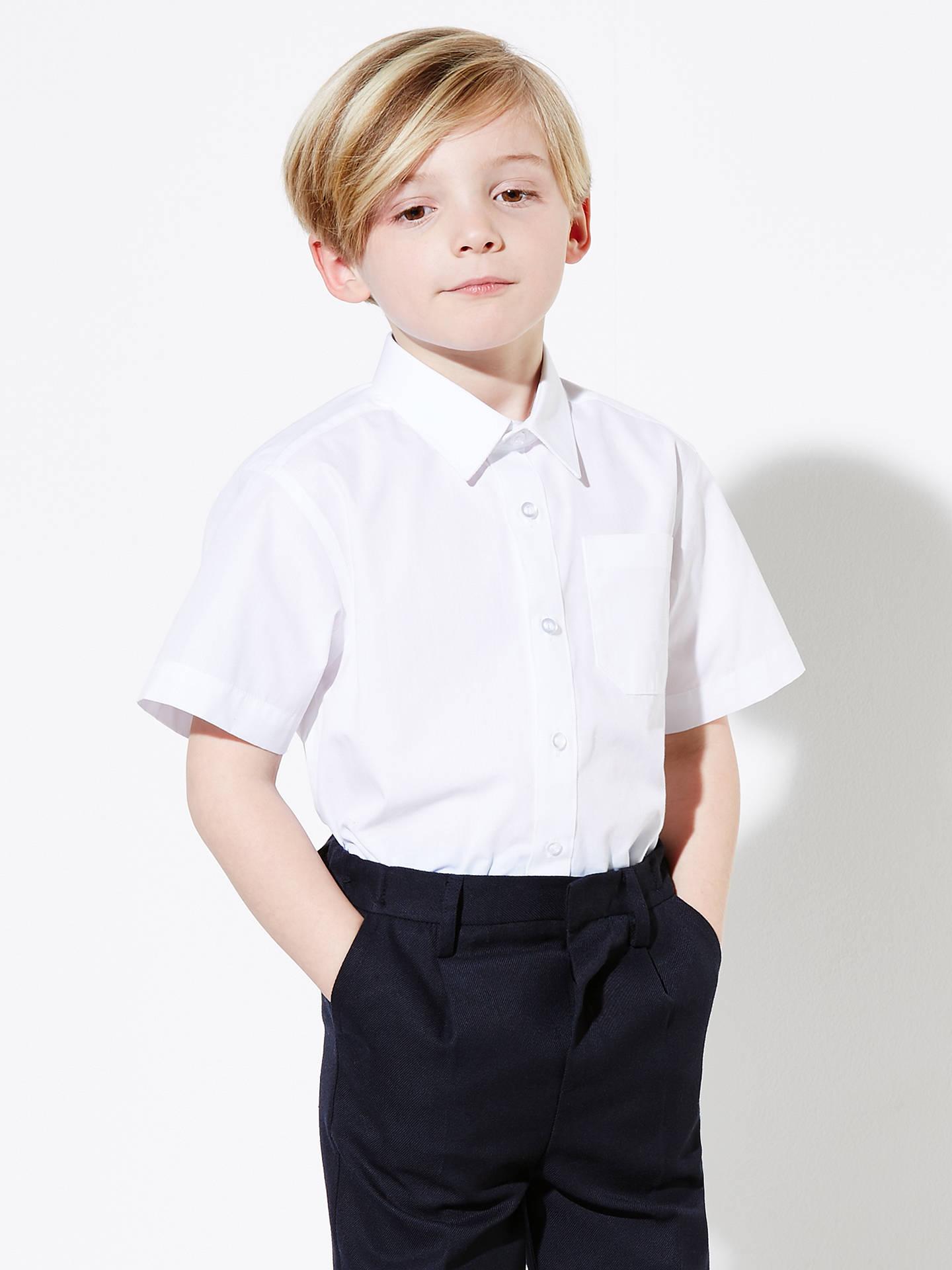 9f4009377 Buy John Lewis & Partners Boys' Easy Care Short Sleeve School Shirt, Pack  of ...