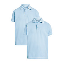 Buy John Lewis Unisex Pure Cotton Easy Care School Polo Shirt, Pack of 2 Online at johnlewis.com