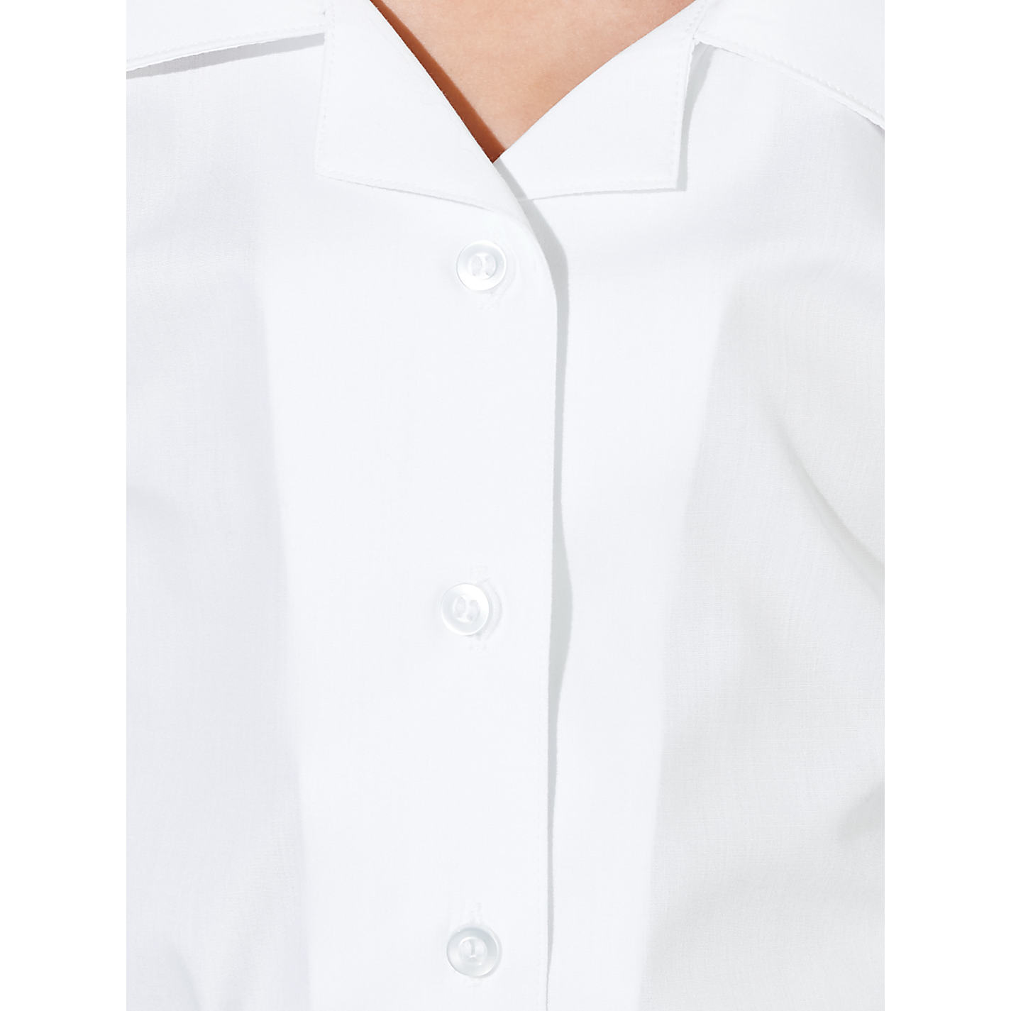 Girls White School Short Sleeve Open Neck Blouse 2 Pack | School ...