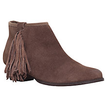 Buy Miss KG Sassy Fringed Ankle Boots, Taupe Online at johnlewis.com