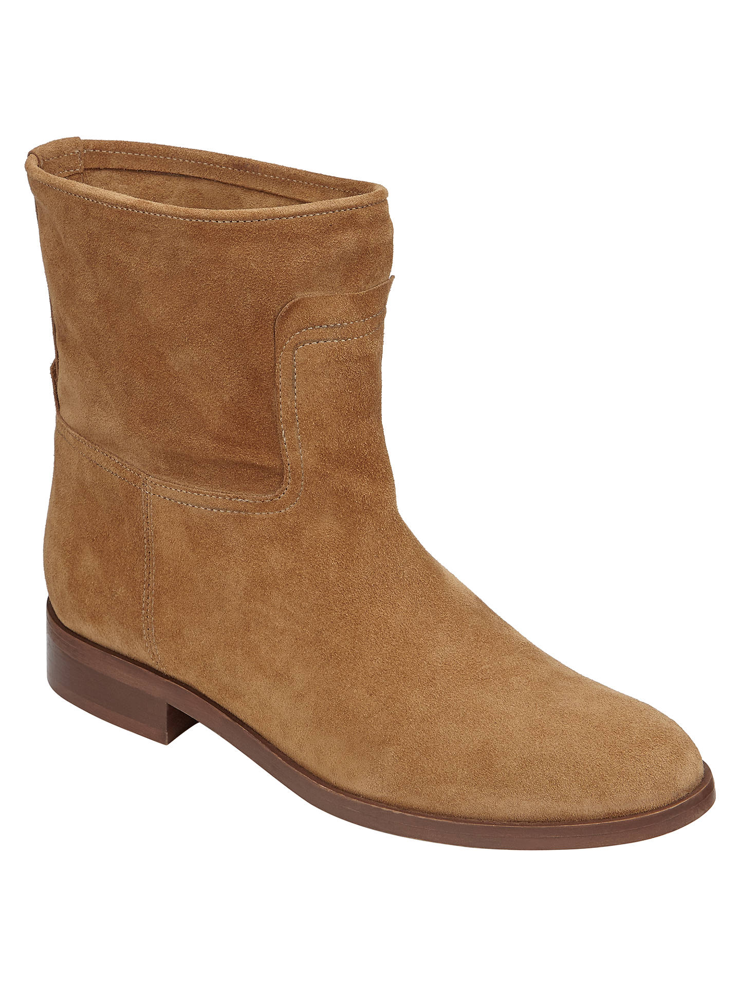 John Lewis Oprah Pull On Ankle Boots, Tan at John Lewis & Partners