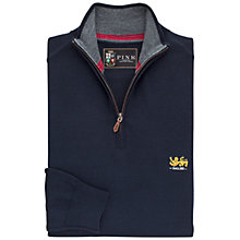 Buy The Lions Collection by Thomas Pink Chapman Half-Zip Merino Jumper, Navy/Red Online at johnlewis.com