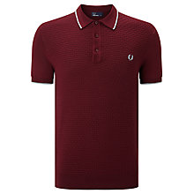 Buy Fred Perry Chequerboard Knitted Polo Shirt Online at johnlewis.com