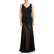 Buy Adrianna Papell Sleeveless Beaded Gown, Black Online at johnlewis.com