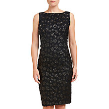 Buy Adrianna Papell Leather Flower Shift Dress, Black Online at johnlewis.com