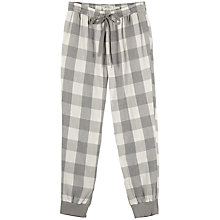 Buy Fat Face Wilsford Check Cuffed Pyjama Bottoms, Grey Marl Online at johnlewis.com