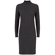 Buy Jaeger Cable Knit Wool Dress, Grey Online at johnlewis.com