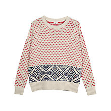 Buy Fat Face Skye Jumper, Ivory Online at johnlewis.com