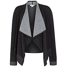 Buy Celuu Reese Waterfall Cardigan, Charcoal Online at johnlewis.com