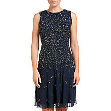 Buy Adrianna Papell Sleeveless Fully Beaded Dress, Navy Online at johnlewis.com