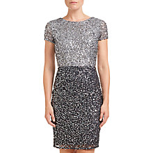 Buy Adrianna Papell Colour Block Dress, Silver/Gunmetal Online at johnlewis.com