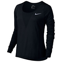 Buy Nike Zonal Cooling Relay Long Sleeve Running Top, Black Online at johnlewis.com