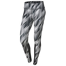 Buy Nike Power Epic Running Tights, White/Black Online at johnlewis.com
