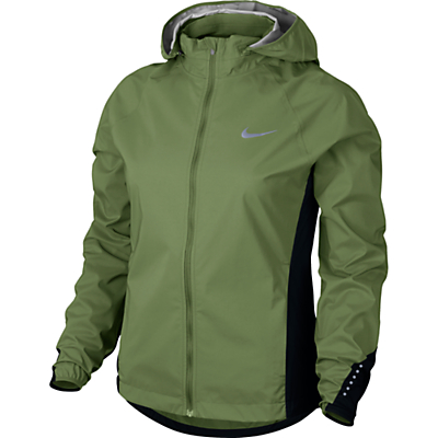 Nike Hypershield Women's Running Jacket, Green/Black