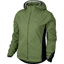 Buy Nike Hypershield Women's Running Jacket, Green/Black Online at johnlewis.com